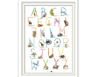 ABC Poster Animals, ABCPoster, Animal ABC, Learning Poster