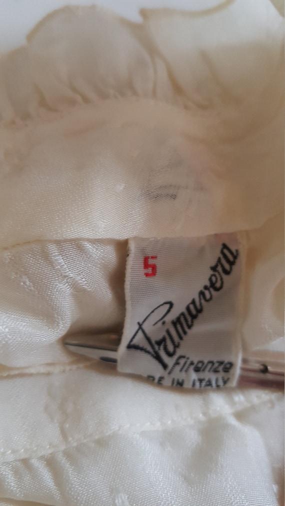White vintage blouse made by Primavera Firenze ru… - image 10