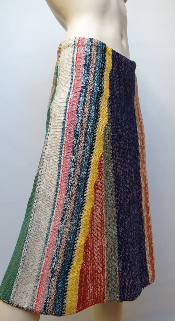 Vintage 40s colorfull knitted skirt hand knitted f