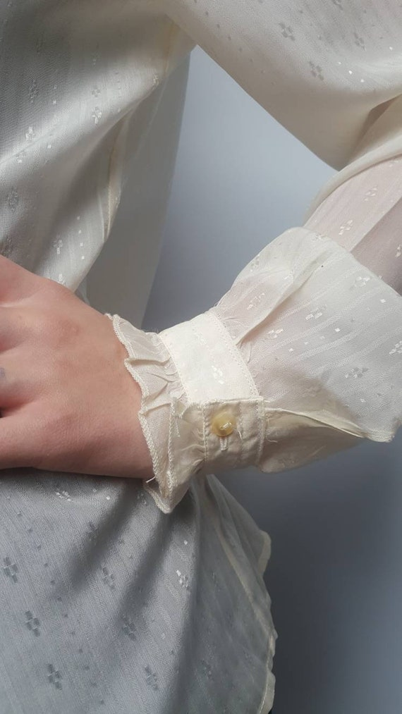 White vintage blouse made by Primavera Firenze ru… - image 3