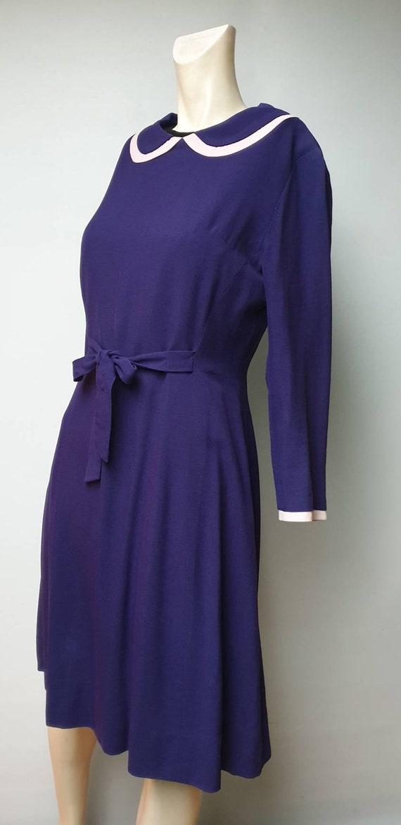 40s purple vintage dress piterpan collar vintage c