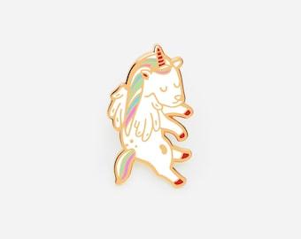 Floating Unicorn enamel pin