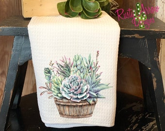 Cactus Hand Towel Etsy