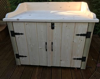 solid wood outside cupboard garden patio shed greenhouse