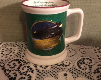 The Polar Express Mug: The Bell Still Rings for Me, As it does for All Who Believe; Welcome Aboard; Collector Train Mug/Cup;
