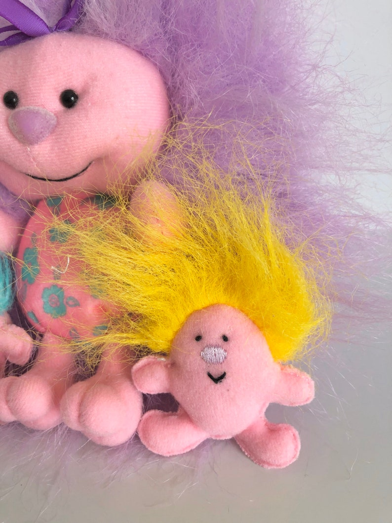 Vintage Tyco Little Fursons Plush with Babies 1995