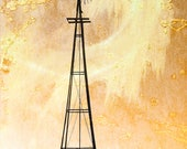 Windy - Photographic Art of Classic American Windmill in Oklahoma - signed and numbered art from limited edition