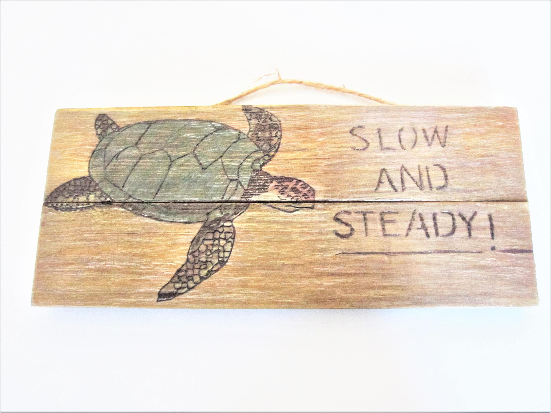 Wood burn sea turtle sign rustic sign beach decor turtle   Etsy