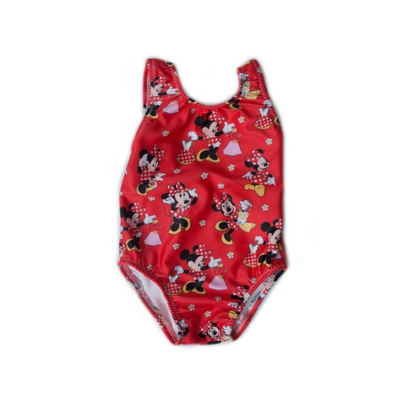 Disney Mickey Mouse Minnie Mouse Dress Up One Piece Swimsuit