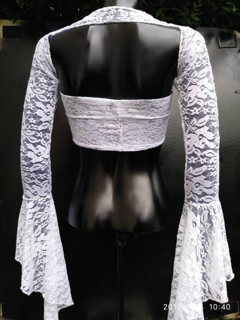 Crop top bandeau multi way detachable sleevesopen back backless lace topsbrides to behen night wedding dressbrides dress bridesmaid