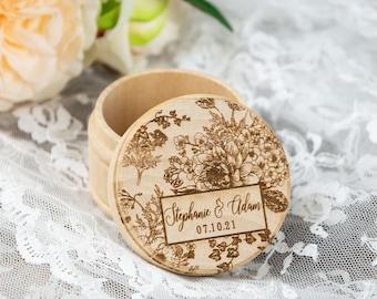 Wedding Ring Box, Wooden Ring Box, Ring Bearer Box, Ring Box Wedding, Engagement Ring Box, Bridal Shower Gift, Personalized Wedding Gift