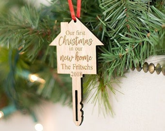 New Home Ornament First Gift Housewarming Christmas Realtor Closing
