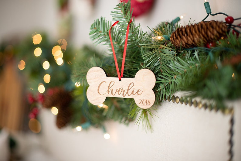 cb70dab025bf Pet Name Ornament Dog Ornament Dog Lover Gift Christmas   Etsy