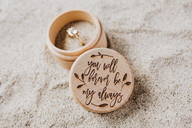 Wooden Ring Box Ring Bearer Box Wedding Ring Box Ring Box image 0