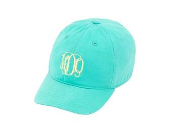 Monogram Kid's Cap, Monogrammed Kid's Hat, Monogrammed Toddler Hat, 4 Colors to Choose From