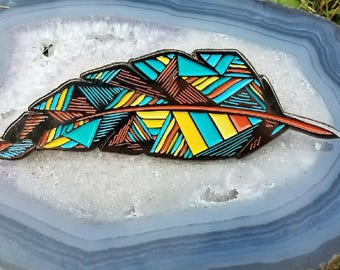 Feather In Your Cap Hat Pin FREE SHIPPING