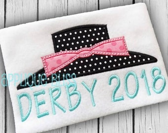 Derby 2018 Applique Design - Horse Racing - Jockey - Derby - Monogram - Machine Embroidery - Kentucky Derby - Derby Hat