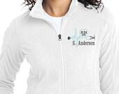 Personalized Nurse Jacket, Fleece Full Zip Jacket, RN, LPN Monogram Apparel