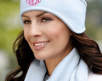 Monogrammed Ear warmers, Personalized Headbands,  Fleece Ear Warmer