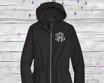 Monogram Raincoat,  Personalized Jacket, Ladies Coat