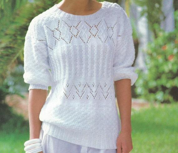 Pdf Women Sweater Knitting Pattern Ladies Sweater Knitting Etsy