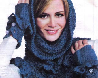 PDF Cowl Hooded Scarf Pattern