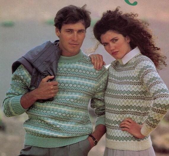 Pdf Women Sweater Knitting Pattern Men Sweater Knitting Etsy