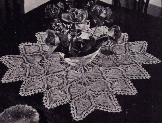 Pdf 4 Pineapple Crochet Doily Patterns Table Topper Etsy