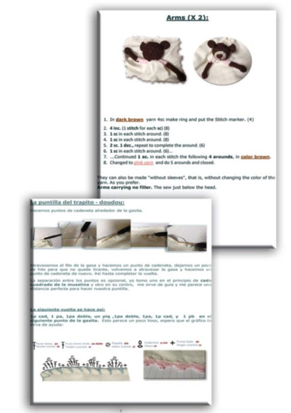 Patrón trapito de apego de bebé en PDF ositos de amigurumi | Etsy