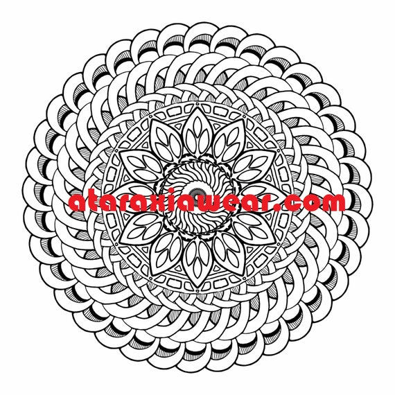 Stress Relieving Pattern #39 Coloring Page JPG