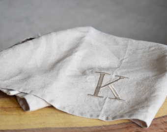 Personalized Tea Towel, Linen Tea Towel, Kitchen Gift, Personalized Gift, Monogrammed Linen, Hostess Gift, farmhouse style, cottage gift,