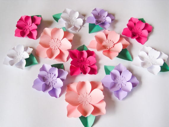 12 Small Paper Flowers Wedding Arch Flower Box Topper Etsy