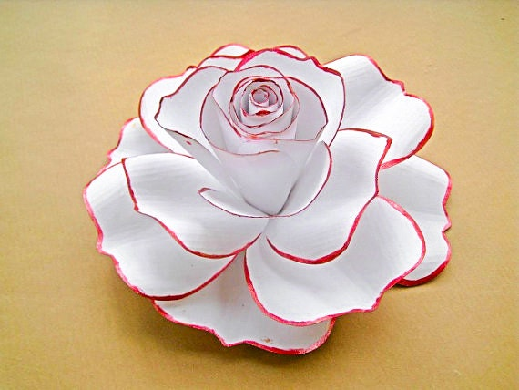 Giant White Paper Rose White Flower Blooms Extra Large Paper Etsy