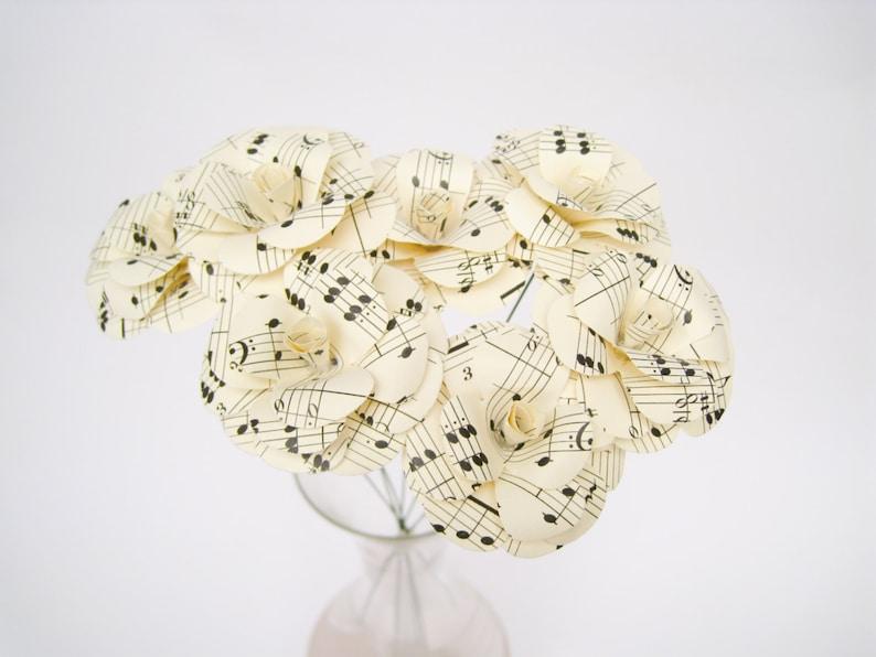 Stupendous Mendelssohn Paper Roses Music Sheet Paper Flowers Music Notes Flower Wedding Table Decor Centerpiece Flowers Musical Paper Roses Best Image Libraries Weasiibadanjobscom