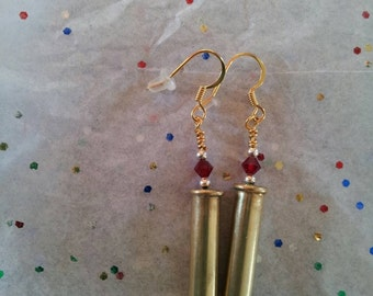 22 caliber bullet earrings
