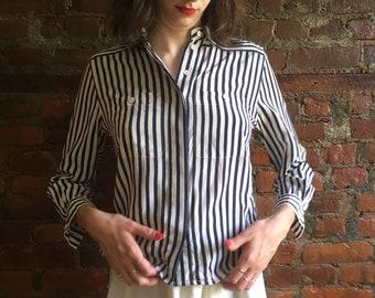 Vintage striped Liz Claiborne button down shirt