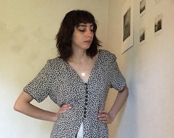 Vintage Liz Claiborne floral blouse/mini dress