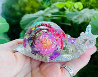 Flower Resin Snail