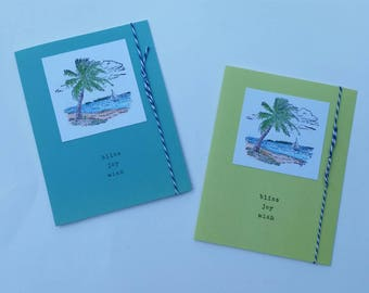 Bliss, Joy, Wish Palm Tree Card Set