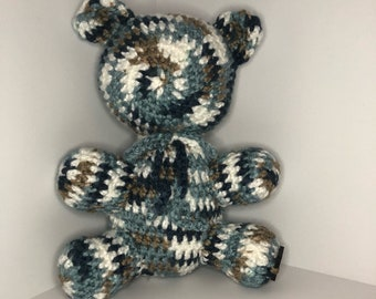 Blue Bear, blue teddy bear, Amigurumi bear, Baby shower gift