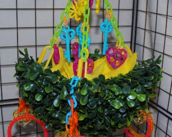 Sugar Glider Toy- Hanging Topiary Swing with 4 Bracelets and a Blankie