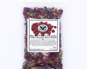 Sugar Glider Enrichment Treat- Organic Dried Rose Petals Flowers