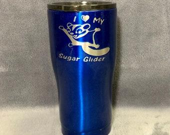 Blue Sugar Glider 20oz Curved Tumbler Hogg Yeti Ozark BUILT Custom Tumbler Drinkware