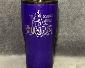 Purple Sugar Glider 20oz Curved Tumbler Hogg Yeti Ozark BUILT Custom Tumbler Drinkware
