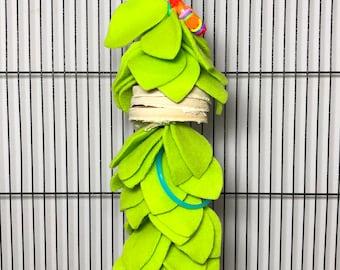 Long Leafy Forager Sugar Glider Toy Sugar Bear toy, Pocket Pet toy, Bird toy, small animal toy, exotic animal toy