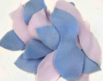 Sugar Glider Enrichment - Pastel Fleece Leaves