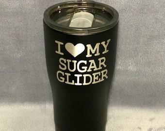 Black Sugar Glider 20oz Curved Tumbler Hogg Yeti Ozark BUILT Custom Tumbler Drinkware