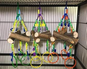 Eucalyptus Triangle Swing Sugar Glider Toy Sugar Bear toy, Pocket Pet toy, Bird toy, small animal toy, exotic animal toy