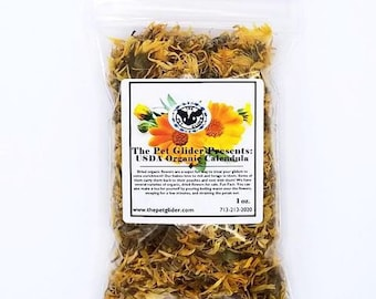 Sugar Glider Enrichment Treat- Organic Dried Marigold (Calendula Officinalis) Flowers