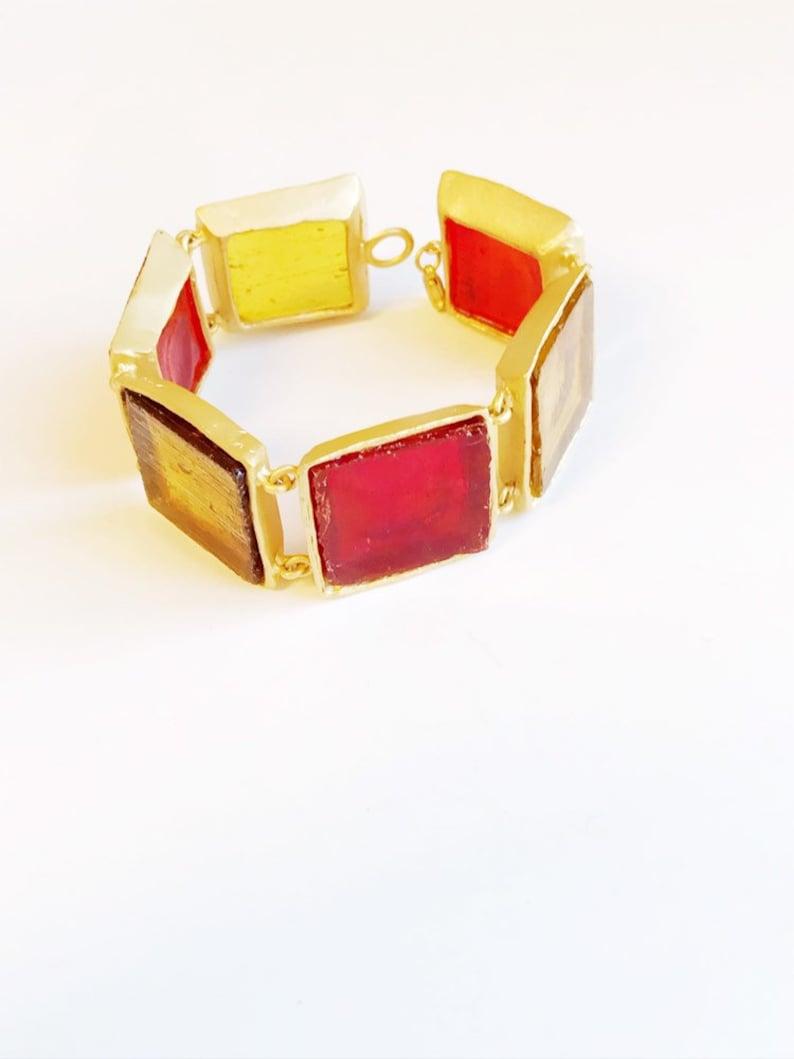 Gift For Her Girlfriend Gift Sea Glass Gift For Girlfriend Handmade Bracelet Glass Jewelry Artisan Sea Glass Jewelry Gift For Wife